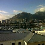view over waterfront and table mountain from room balcony