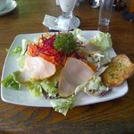 Delicious smoked marlin salad