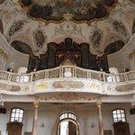 Organ and ceiling fresco of St. Augustine Church