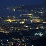 View from the terrace towards La Spezia at night