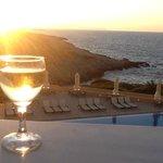 On our balcony enjoying the sunset