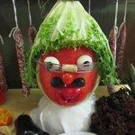 Funny vegetable decoration!