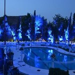 pool in blue color for theme party