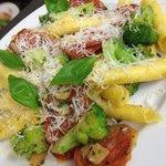 Garganelli con Salsiccia e Broccoli