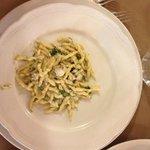mazzancolle spinaci e tartufo