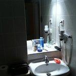Squashed bathroom basin