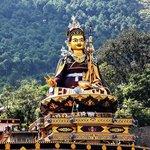 Statue of  Guru ' Padmasambhava' ( Rinpoche) at Rewalser