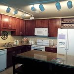 Kitchen has nice layout, very usable