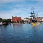 USS Constitution with Duck tour in foreground