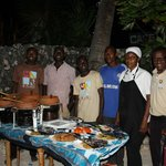 Repas Swahili avec toute l'équipe