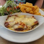 The colourful lasagne