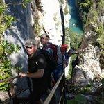 """Ready to descend the """"Escaliers de la Brèche Imbert"""""""