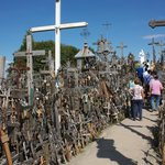 Pathway through Hill of Crosses