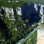 The Verdon seen from the descent from Chalet de la Maline