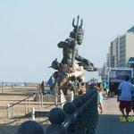 King Neptune statue outside