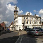 The Clock Tower, Market Place and Harleston Thoroughfare.