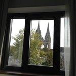 vue de la chambre sur abbaye