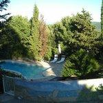 la piscine bien paysagée