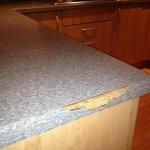 sharp edge on table top