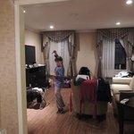 Esta foto já dá pra ter uma idéia do tamanho do apartamento...