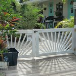 Entrance to Mango Street Inn; beach is just a block away
