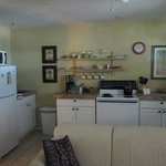 Full kitchen with refrigerator, stove, pantry, coffee maker and all you would need to prepare a