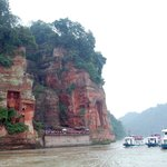 The river boats from which to view the Leshan Giant Buddha