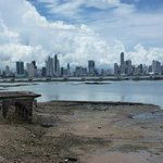 view of Panama City from the old town