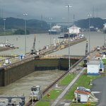 Panama Canal from the Miraflores Locks
