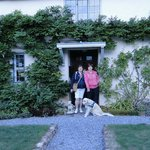 me and my mom in front of arden cottage