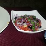 Tropea salad utilising the local igp tropea red onion