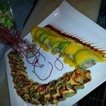 This is Lobster Mango Roll &Godzilla Roll