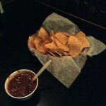 hot salsa and hot chips!