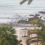 Aussicht vom Balkon auf Strand
