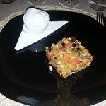 ratatouille di verdure con gelato al gorgonzola