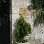 Hotel entry gate.