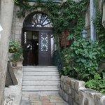 Lovely garden path entryway.