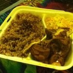 Stew Chicken with rice & beans