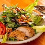 Salad with warm Rotisserie Chicken