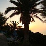 coucher de soleil de l'hotel