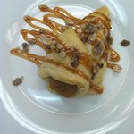 Pumpkin in Puff Pastry with Praline topping