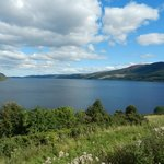 View towards Loch Ness on the way to Urquhart Castle