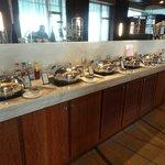 Breakfast spread in Executive Lounge