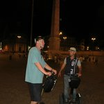 Riding with guide Andrew (wearing hat) on Piazza del Popolo