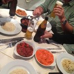Indian food and beer