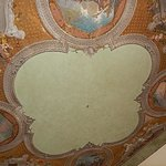 Fresco on ceiling in living ara