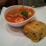 Un curry de mariscos ,,,muy muy bueno