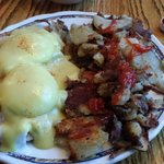 Crab Benedict and red potatoes