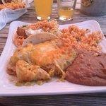 Shrimp and Scallop Enchiladas!
