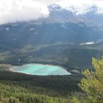View of Wapta Lake from Pagett Lookout In Yoho National Park